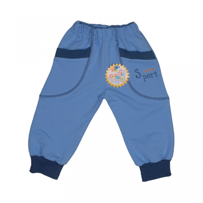Pant model 8-bleu inchis